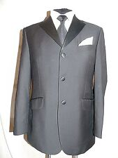 M & S -SARTORIAL CLASSIC ELEGANT BLACK TUXEDO DRESS SUIT JACKET UK 38's EU 48's