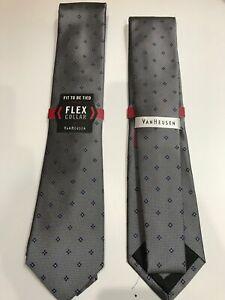 NEW Silk Tie * Flex Collar Style By Van Heusen Men