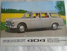 Peugeot 404 Family Saloon & Station Wagon  brochure 1970 English text