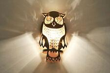 Modern Unique Contemporary Decorative Handmade Designer Owl Wall Lamp Light