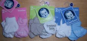 New Gerber 2 Pack Bootie Set, Baby Shower, Precious Baby, Baby Boy, Baby Girl