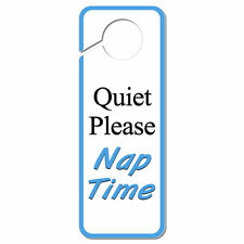 Quiet Please Nap Time Plastic Door Knob Hanger Sign