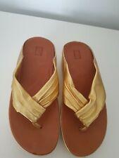 FitFlops Lulu Molten Metal gold Toe Post Sandals UK Size 5 Flip Flops rare bnwtg