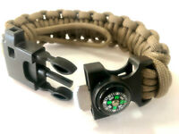 9 in 1 Adjustable Paracord Survival Bracelet With Knife Compass Fire starter