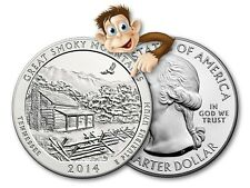 2014 5 oz Silver America The Beautiful - (Great Smoky Mountains) - Bullion Issue
