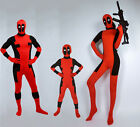 Deadpool Unisex Halloween Kids Children Costume Cosplay Adult Bodysuit Women