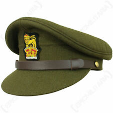 More details for ww2 british army visor cap - repro military soldier peak hat uniform officer new