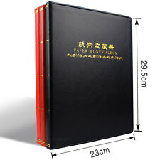 New 60 Paper Money Note Holders Collection Album Book Collecting Storage black