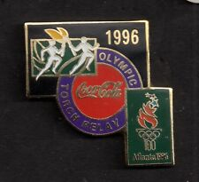 1996 Coca Cola Atlanta Torch Relay Olympic Pin Coke Black Green