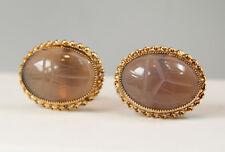 Vintage 1/20 12KT Gold-Filled Agate Cufflinks. New and Unworn