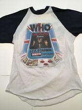 The Who Shirt Vintage tshirt 1982 It's Hard American Tour Concert w/ tix stub