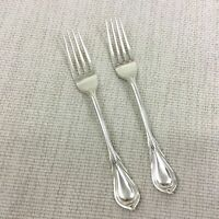Antikes Silber Teller Besteck Tisch Gabel Lilie Muster James Dixon Jugendstil