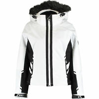 SUPERDRY Women's White & Black Padded Ski Jacket Coat - M / UK 12