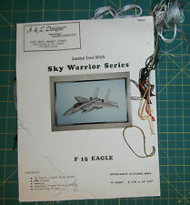 F-15 Eagle Sky Warrior Series Cross Stitch Kit Started Military Plane Aircraft