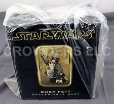 "Star Wars Boba Fett 6"" Tall Bust Collectible Gentle Giant Dark Horse Studios NIB"