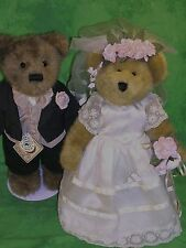 Boyd's Bears Plush Teddy~MR. & MRS. EVERLOVE~BRIDE & GROOM SET~Wedding~Formal~