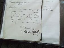 Ephemera (#14) - Large collection misc. letters dated 1895-1896 - see photos