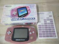 L64 Nintendo Gameboy Advance console Milky Pink Japan GBA w/box