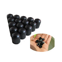 Useful 50Pc Car SUV Black Plastic Wheels Tire Valve Stem Cap Lid Air Dust Cover