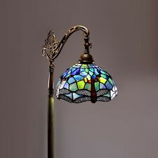 Floor Lamp Tiffany Style Dragonfly Stained Glass Living Room Home Office Reading