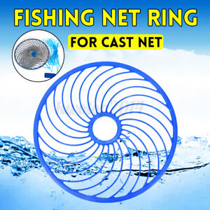 45cm/18in Hand Throwing Fishing Cast Net Ring Auxiliary Catching Accessory Tool