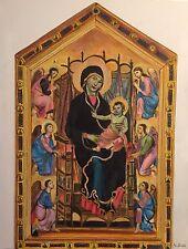 ORIGINAL DAVID ALDUS  Rucellai Madonna After Duccio di Buoninsegna OIL PAINTING