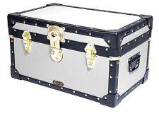 "WHITE Mossman  Made Boarding School Tuck Box Storage Trunk 20""x13""x11"