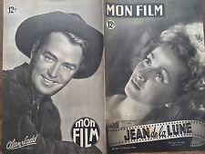 """MON FILM 1949 N° 164 """" JEAN DE LA LUNE """" AVEC DANIELLE DARRIEUX et CLAUDE DAUPHI"""