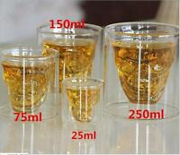 Skull Head Vodka Whiskey Mug Cup Bar Creative Shot Drinking Beer Wine Glass Cup#