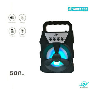 MINI CASSA BLUETOOTH DIFFUSORE PORTATILE RICARICABILE RADIO USB LED SPEAKER T147