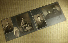 Antique Photo Album Pages with 9 Images / Japanese / Dated 1910-1913