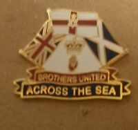 brothers united across the sea enamel badge loyalist ulster scots orange rfc