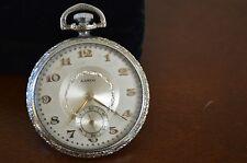BEAUTIFUL  Lanco Swiss open face  pocket watch    Sell as it is- OLD WATCH