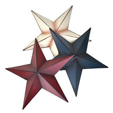 Rustic Metal Star Wall Decor, Assorted Colors, 6-Inch, 3-Piece