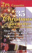 35 CHRISTMAS FAVORITES ON ORGAN & CHIMES 2 CASSETTES SILENT NIGHT, HOLY NIGHT