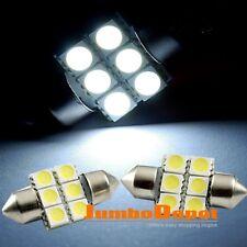 2X 31mm White 6SMD LED Wedge 5050 Bulb White 3022 3175 For Dome Festoon Light