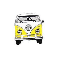 Volks Van Yellow (Iron on) Embroidery Applique Patch Sew Iron Badge