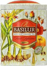 Basilur Tea -Fruit Infusions Red Hot Ginger 100g Ceylon Loose Leaf Tea Tin Caddy