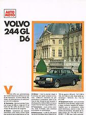 PUBLICITE ADVERTISING 114  1979  VOLVO  244 GL D 6