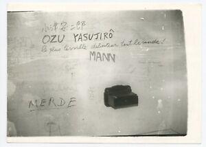 U257 Photographie originale vintage Graffiti WC Action Lafayette Cinéma (1968)