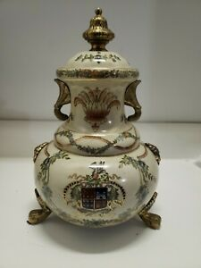 Dominic Urn with intricate brass details