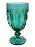 "Vintage Libbey Duratuff Gibraltar Juniper Green 7"" Iced Tea Goblet 16 Oz."