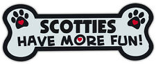 Dog Bone Shaped Magnets: Scotties Have More Fun! (Scottish Terriers)