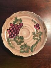 MULBERRY HOME COLLECTION DINNER PLATE WITH GRAPE DESIGN