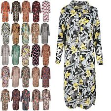 Unbranded Long Sleeve Floral Shirt Dresses for Women
