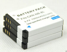 New 3 piece NB-8L NB8L camera Battery For A3000 A3100 A3200 A3300 IS