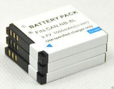 New 3 piece NB-8L NB8L camera Battery For A3000 A3100 A3200 A3300 IS