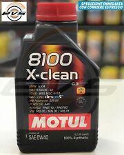 1 Litro Motul 8100 X-Clean 5W40 Olio Motore 100% Sintetico ACEA C3 BMW LL-04