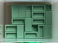 LEGO Parts - Sand Green Tile 1 x 2 w Groove - No 3069b - QTY 25