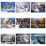 Full Drill Winter Scenery 5D DIY Diamond Embroidery Painting Xmas Decor Popular